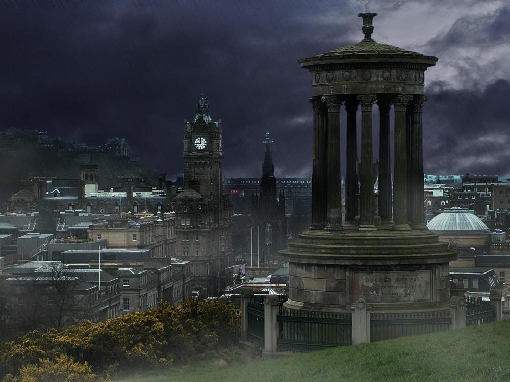Mieses Wetter in Edinburgh