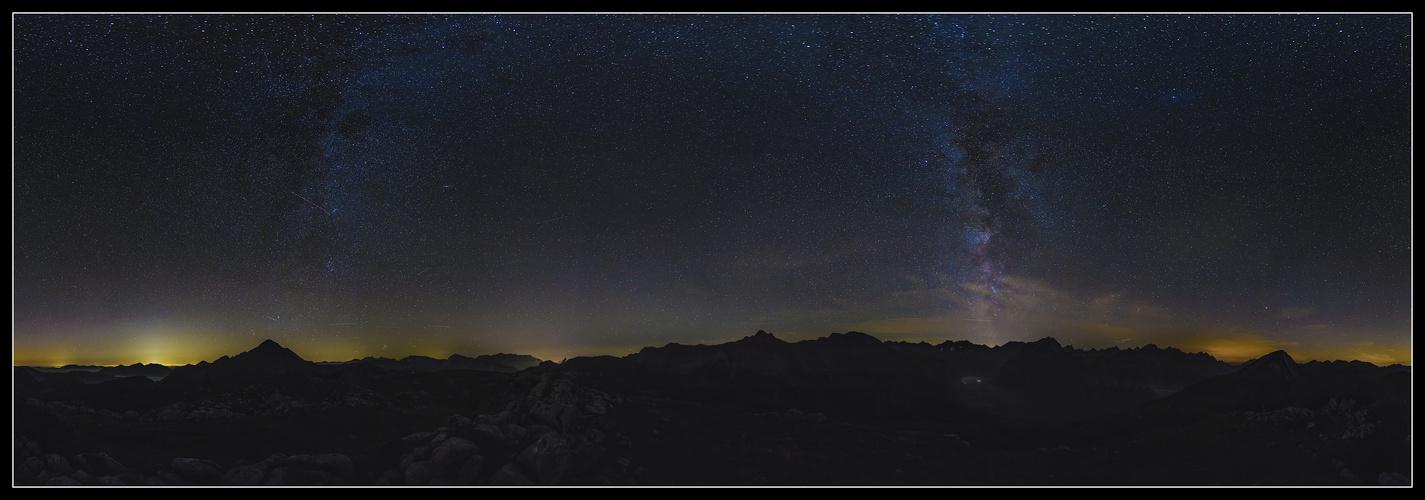 Milchstraße über dem Karwendelgebirge