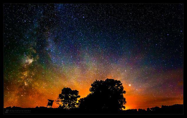 Milchstraße und Sonnenuntergang