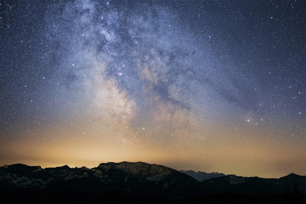 Milchstraßenzentrum über der Benediktenwand