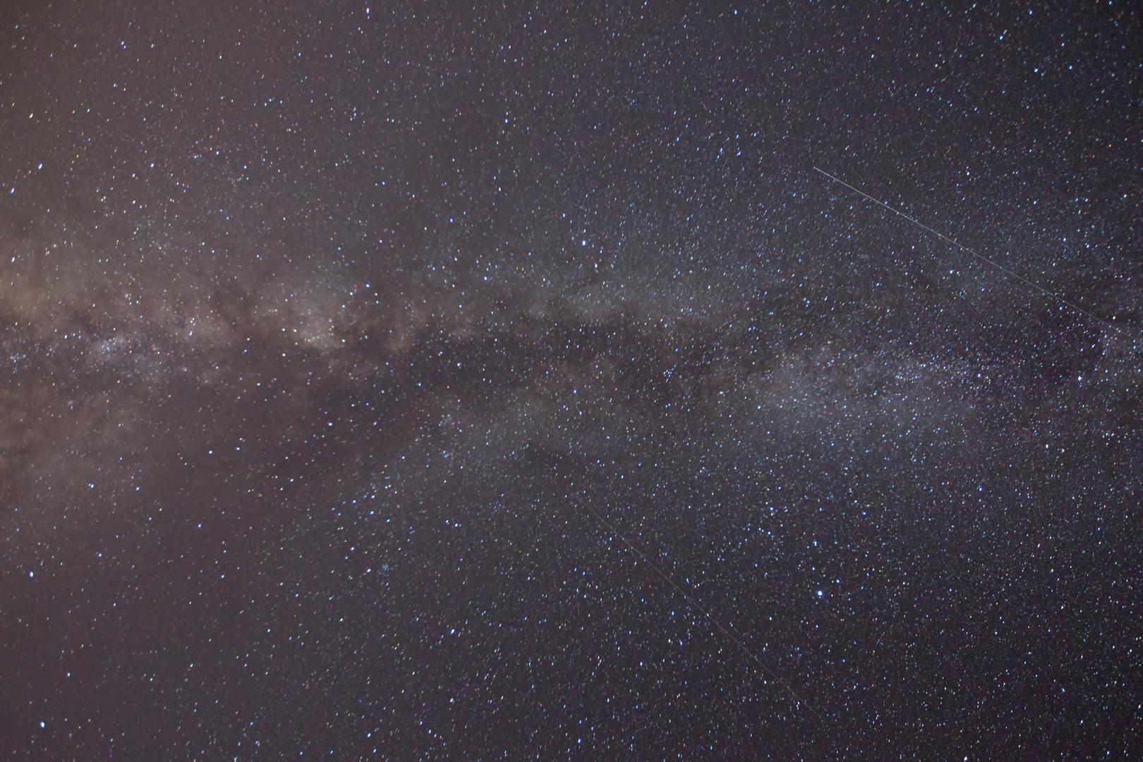 Milky Way and two Shooting Stars