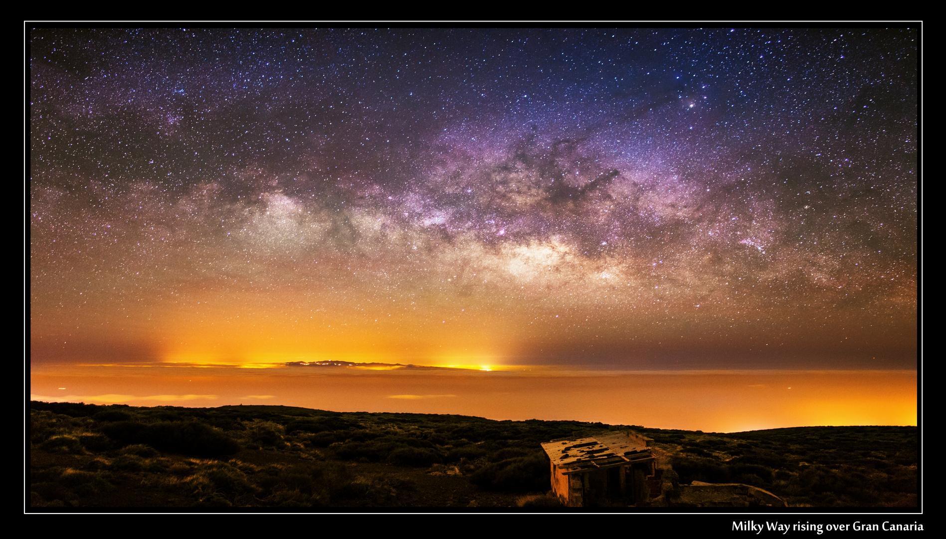 Milky Way rising over Gran Canaria