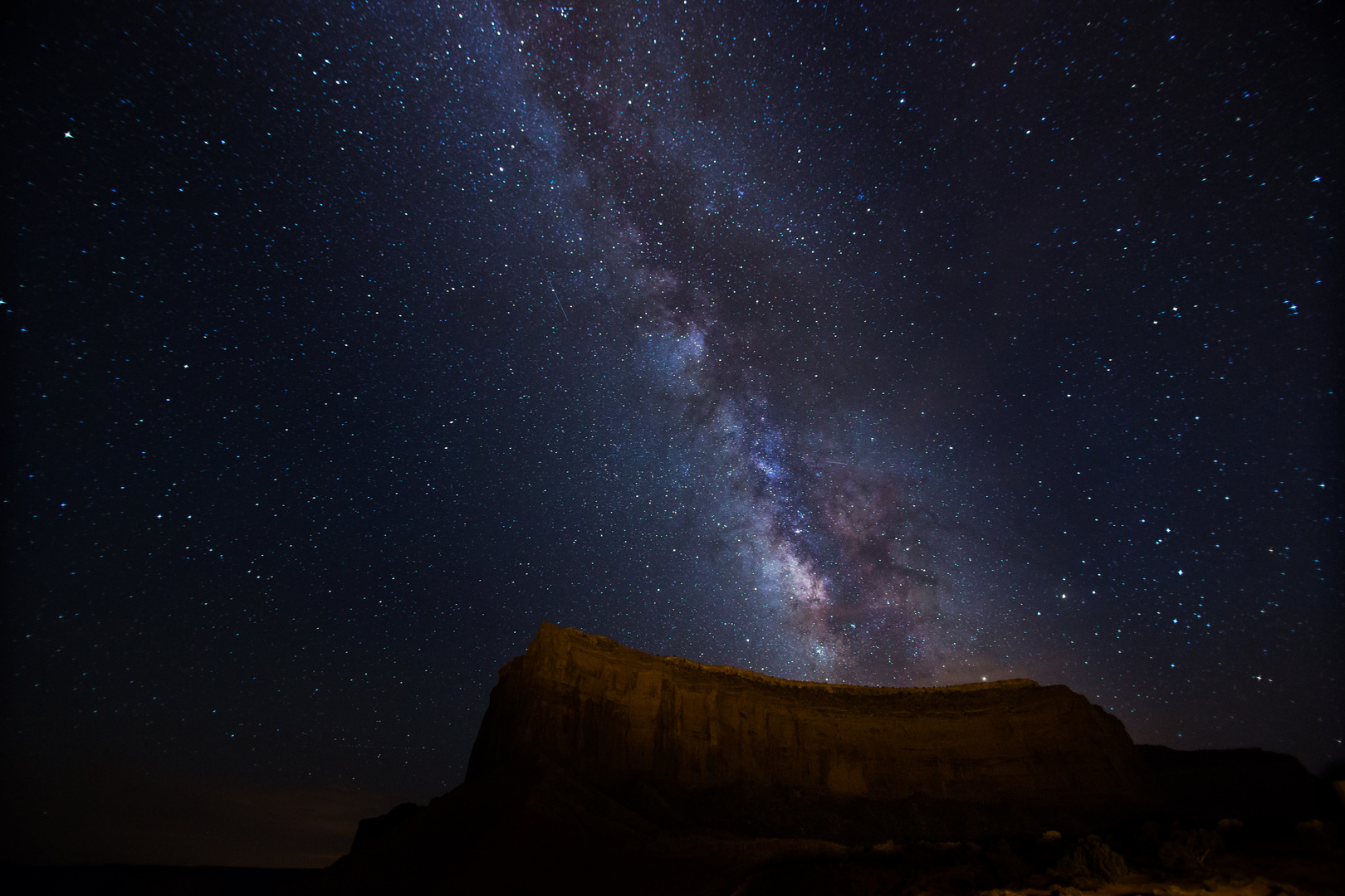 Milkyway over the Monument Valley