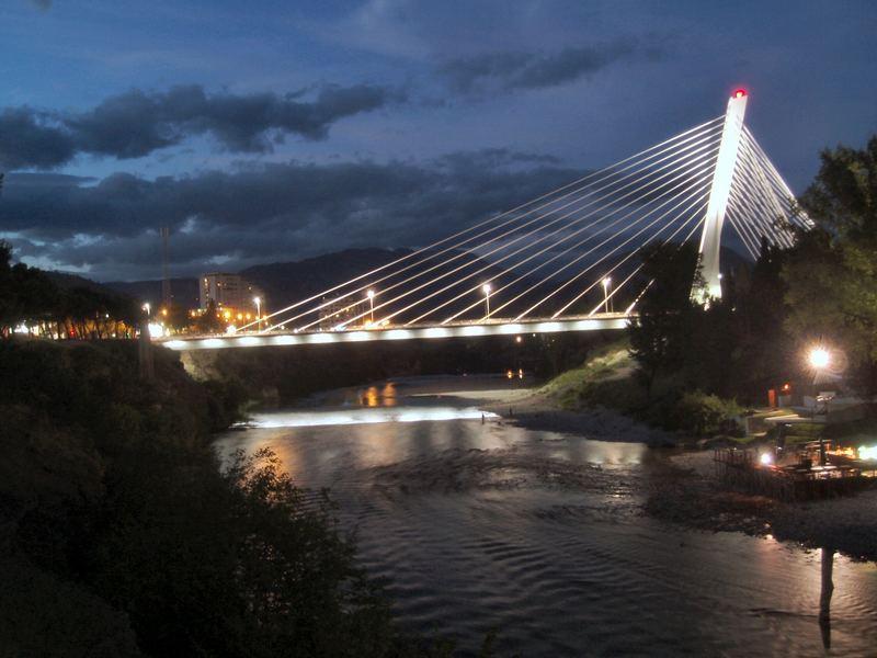 Millenium Bridge, Podgorica, Montenegro