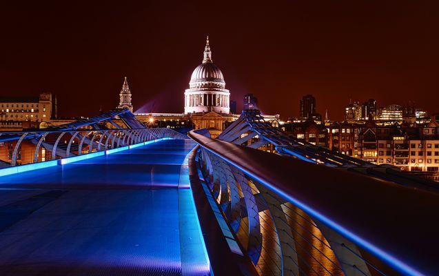Milleniumbridge in der Nacht