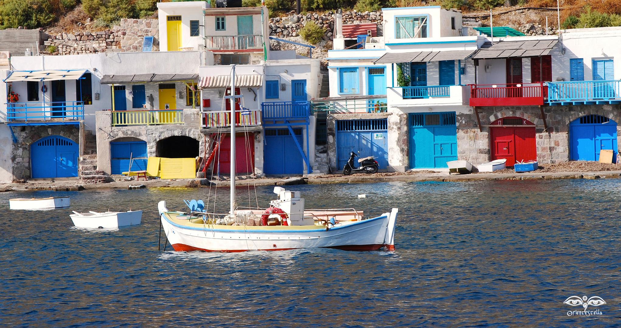 Milos : il villaggio di Klima