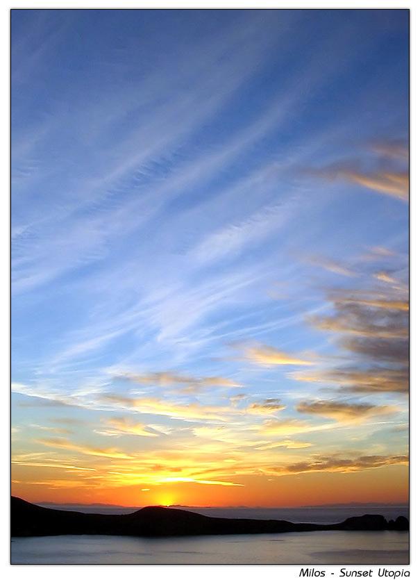 Milos - Utopischer Sonnenuntergang