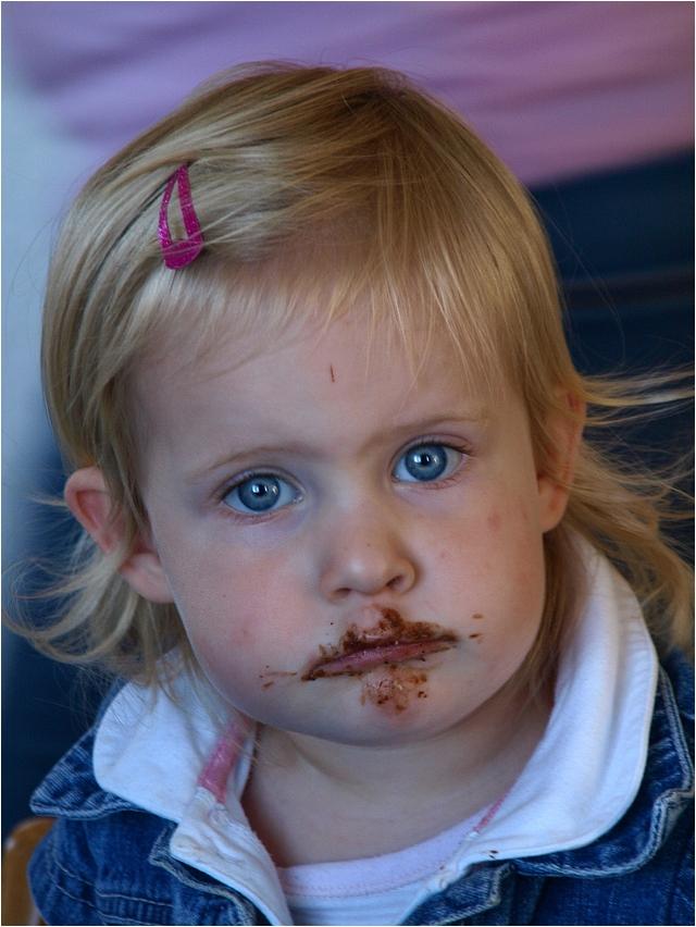 Mima liebt Schokolade....