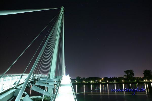 Mimram-Brücke Kehl bei Nacht