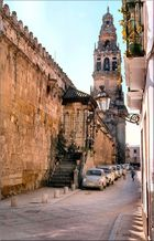Minarete de la Mezquita de Córdoba y Capilla de la Virgen de las lanternas.