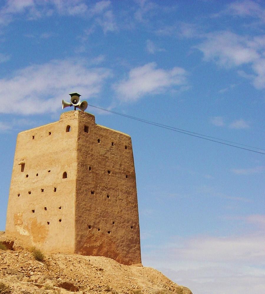 Minareto a Ghardaïa Sahara algerino.