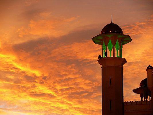 Minarett am Abend