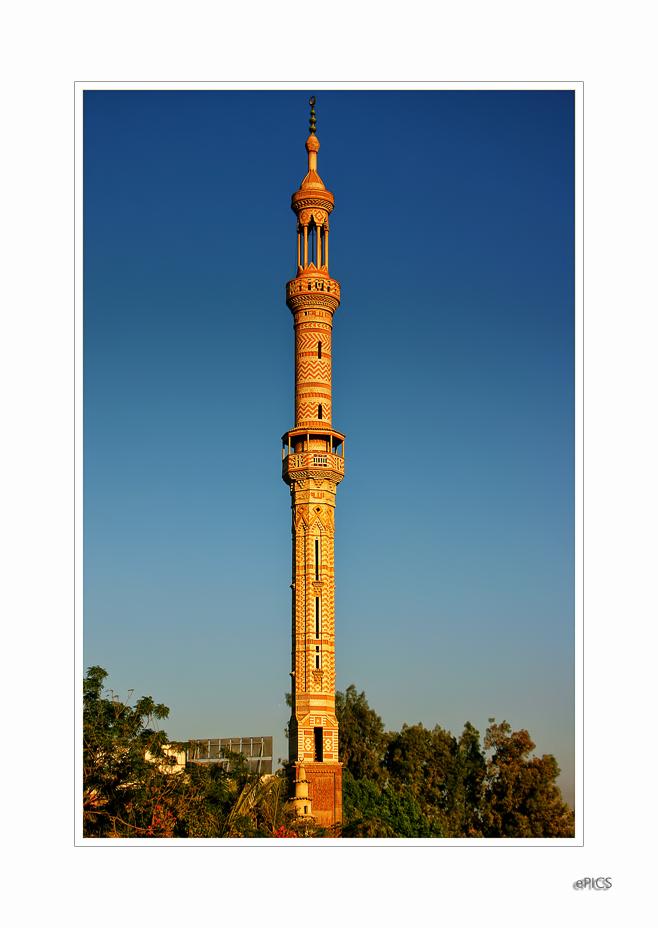 Minarettenbau in Ägypten