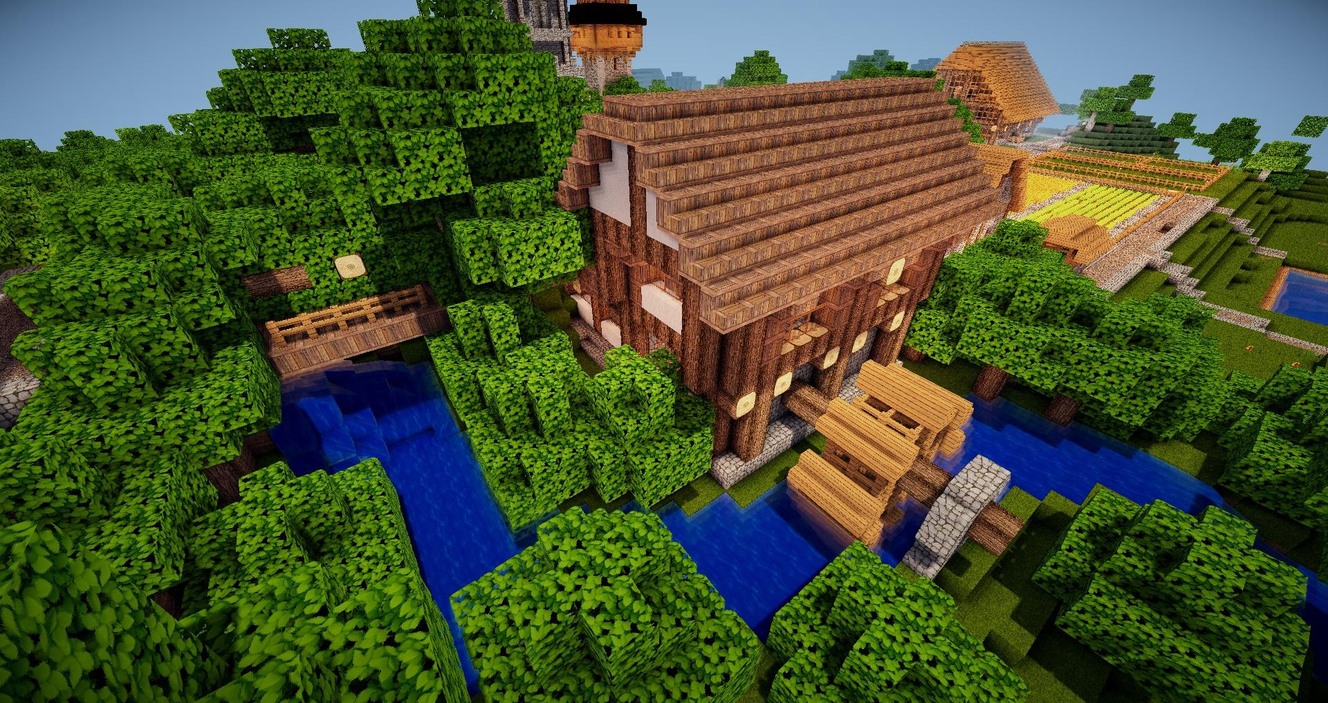 Minecraft Wassermühle