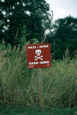 Minenfelder in Kroatien