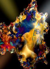 Mineral mit Lichtreflexen