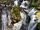 mini cascade gelée en Limousin