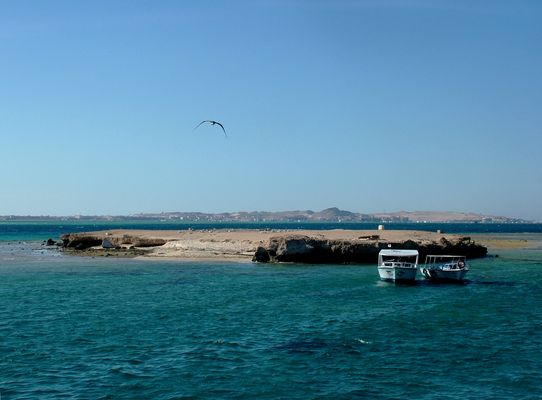 mini plage sur îlot
