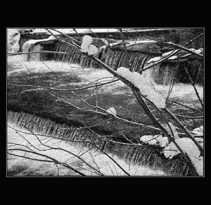 Mini-Wasserfall an der Chemnitz
