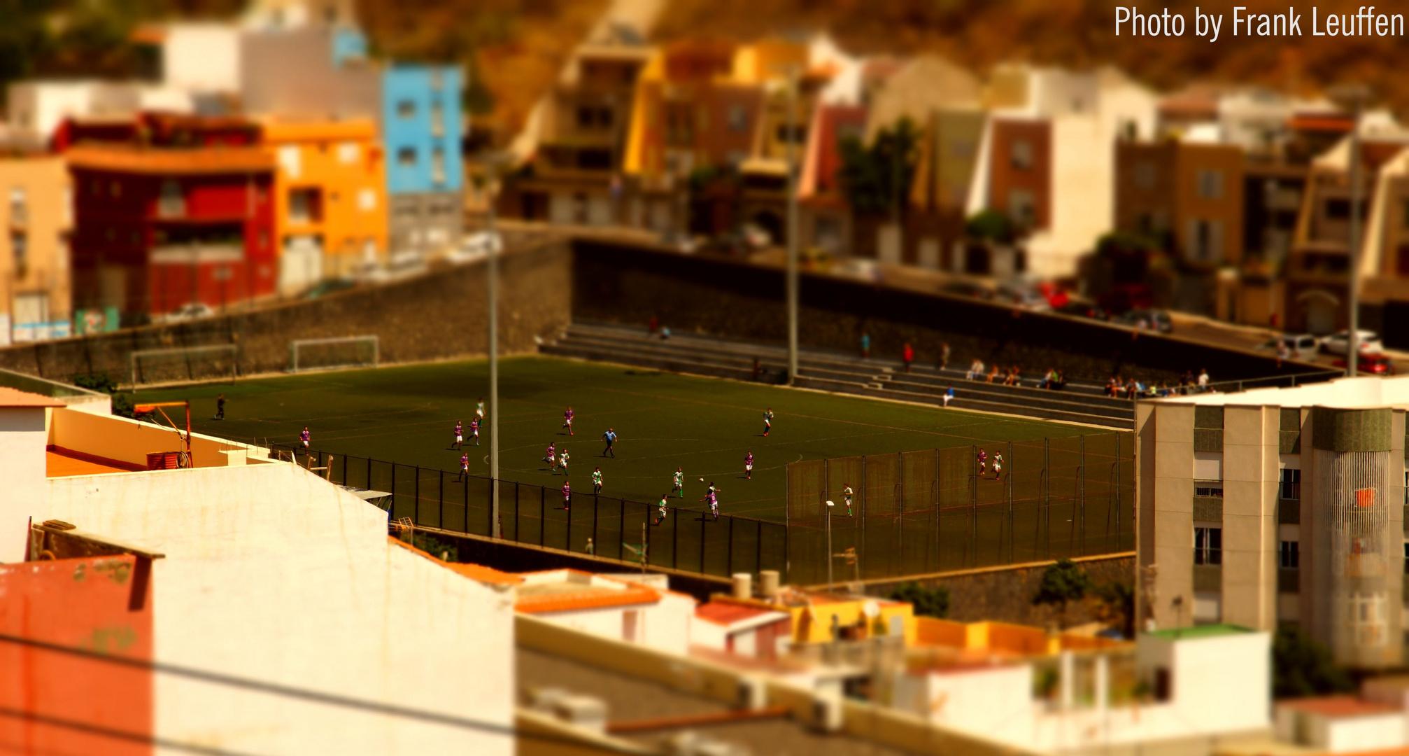 Miniatur-Fussballspiel