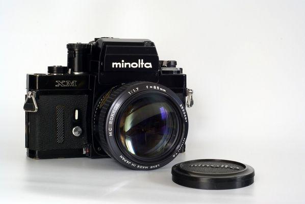 Minolta XM mit MC Rokkor 1.7/85