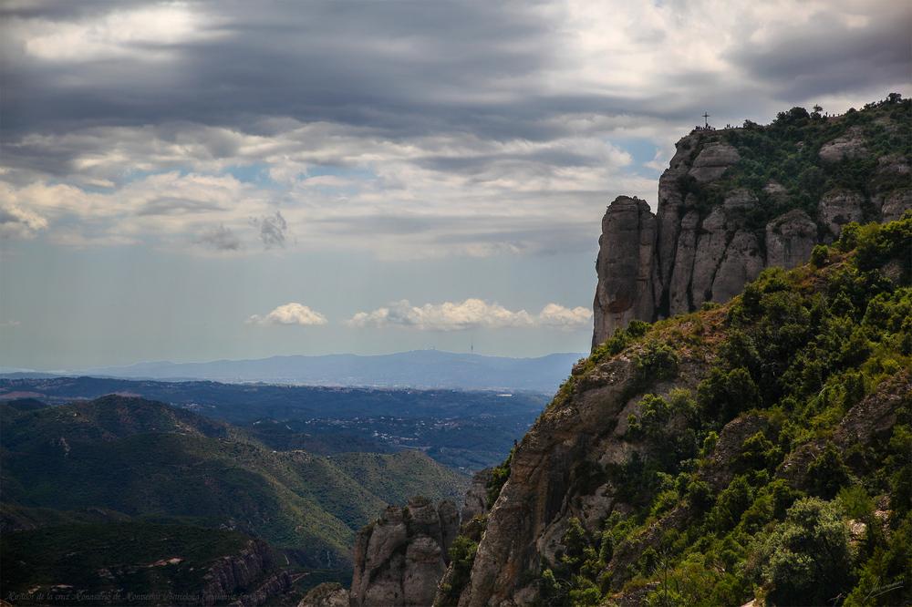 Mirador de la cruz Monasterio de Montserrat (Barcelona Catalunya España)