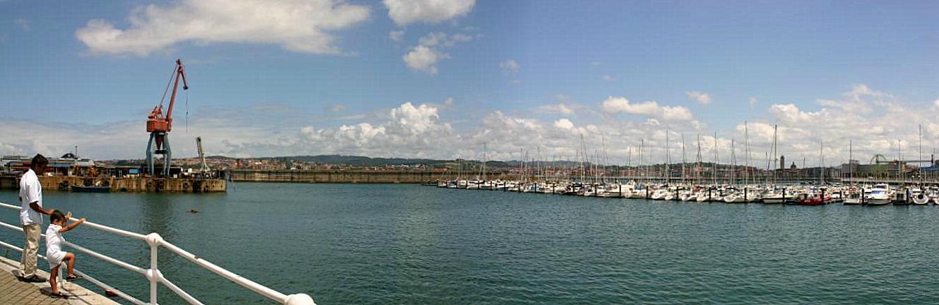 mirando el puerto