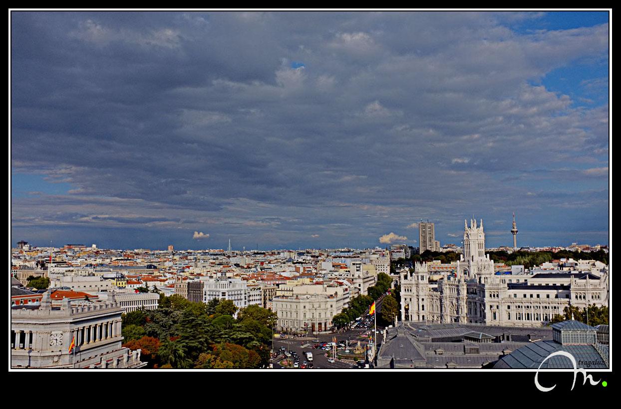 Mirando hacia la Puerta de Alcalá