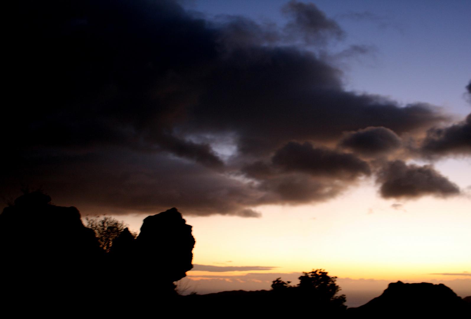 Mirando la puesta de sol