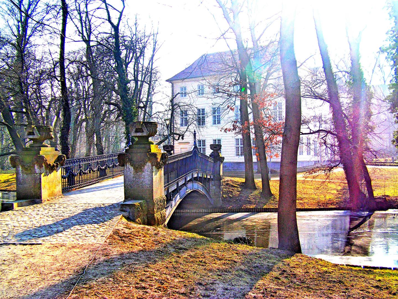Mirower Schlossinsel im Winter