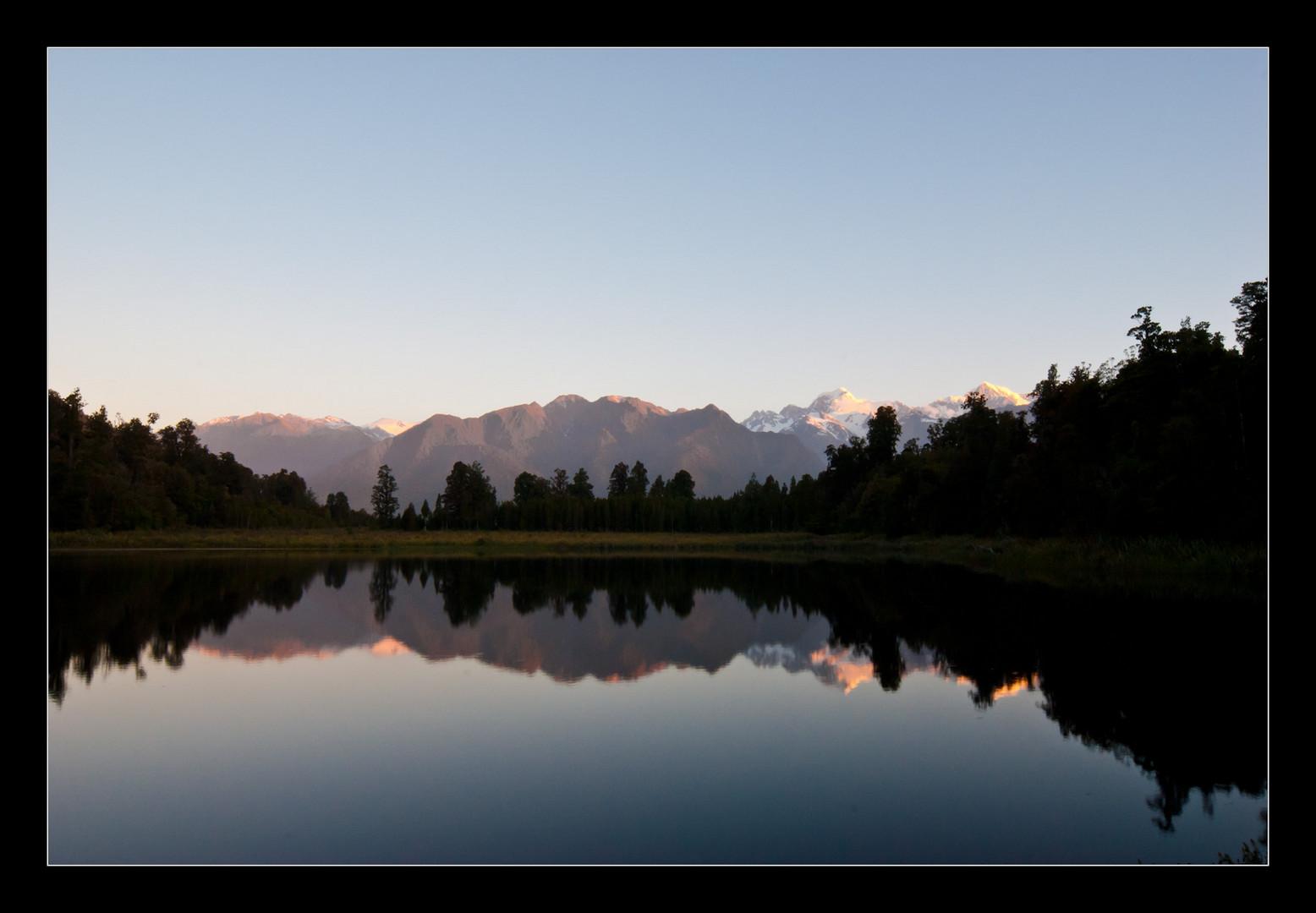 Mirror lake in Neuseeland