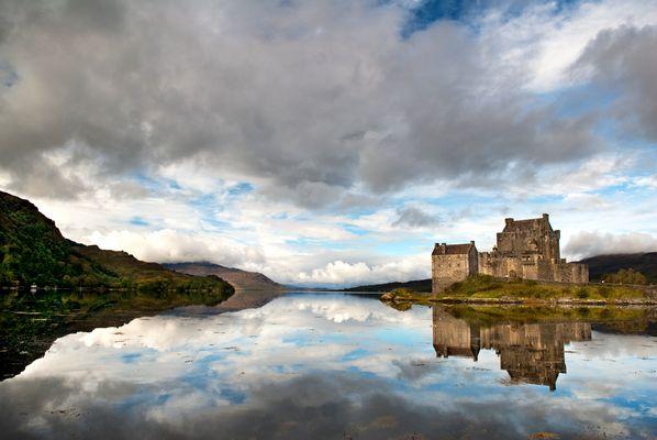 Mirrored Donan Eilean Castle