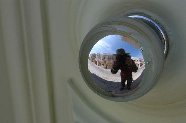 mirrored doorknob