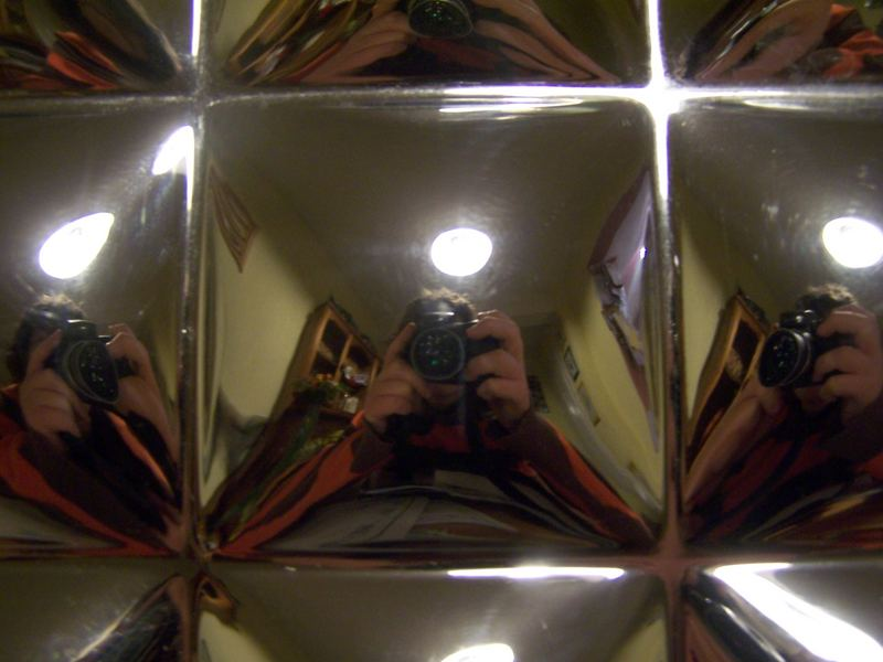 mirrored self portrait