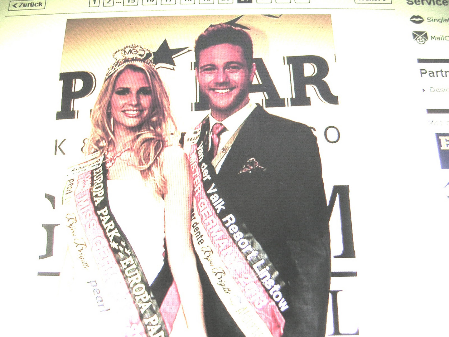 Miss Germany 2013 und amtierender Mister Germany