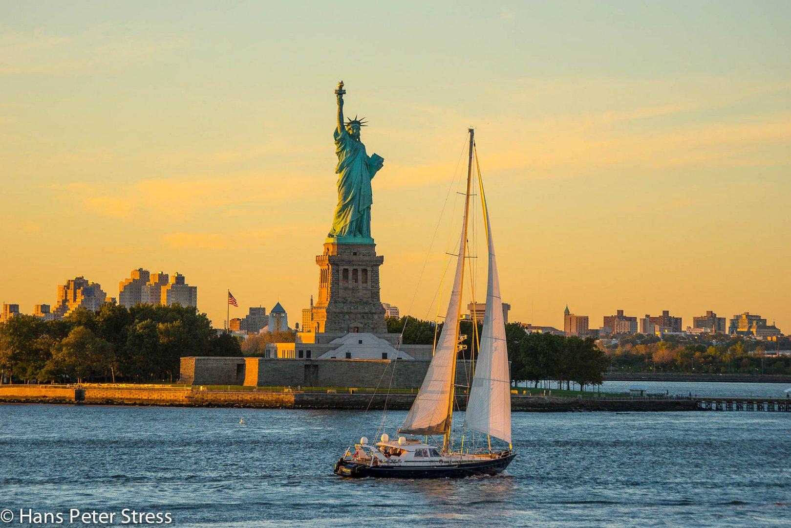 Miss Liberty im Abendlicht