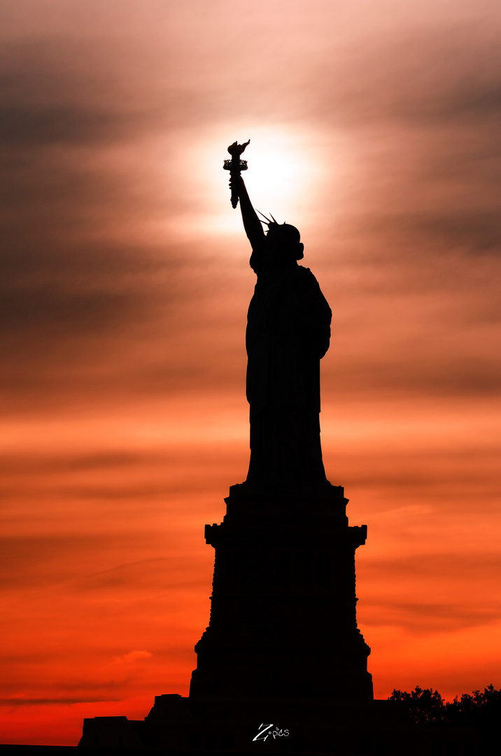 Miss Liberty Silhouette