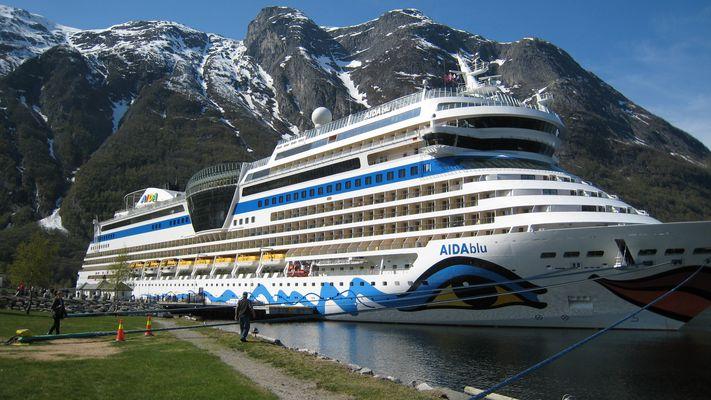 Mit AIDA blu in Eidfjord
