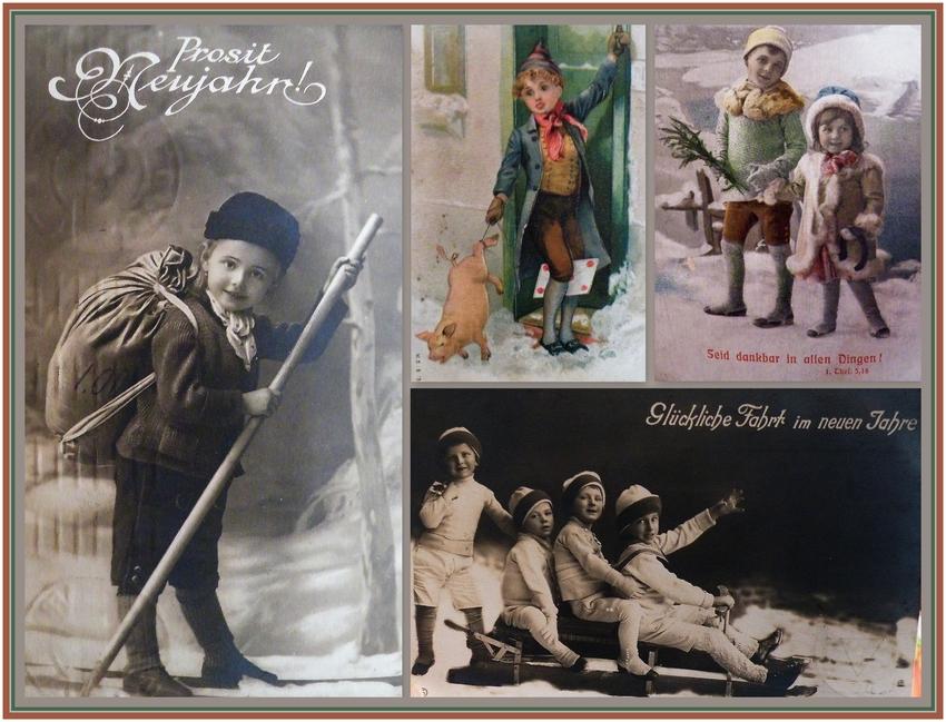Mit alten Postkarten