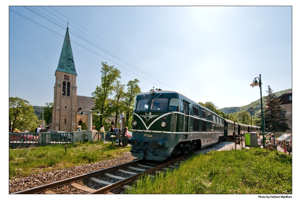 Mit Bahn und Rad durchs Triestingtal