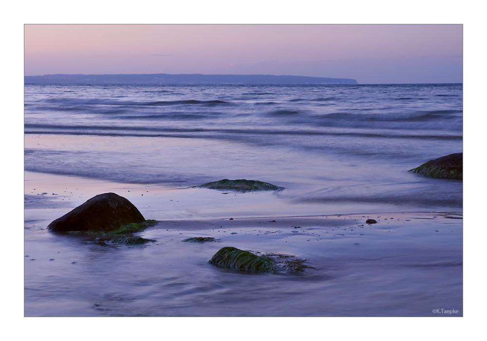 mit Blick auf die Küste