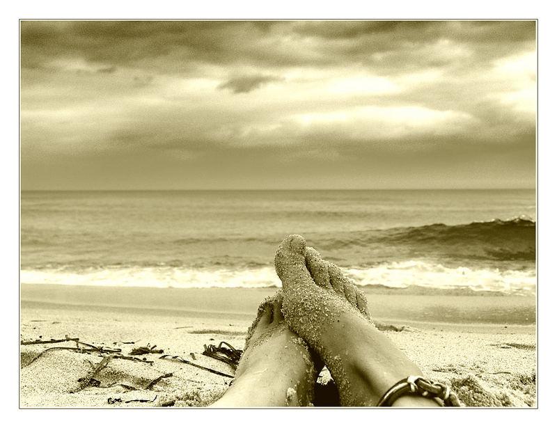 ... mit Blick aufs Meer ...