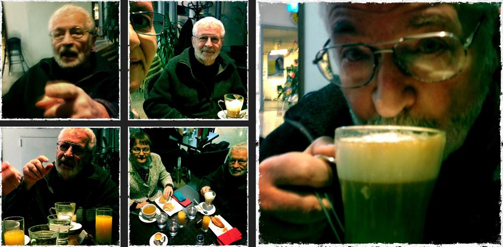 mit Boris und Hedi um 10 nach 10 im Cafe.