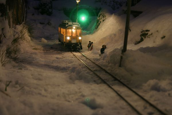 Mit dem Abe 4/4 im Schnee...