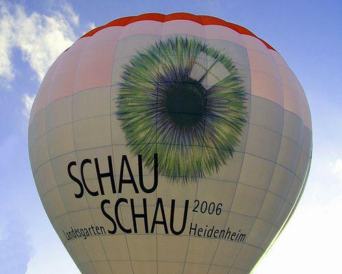 Mit dem Ballon zur Gartenschau