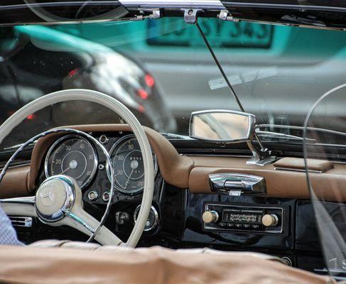 mit dem Cabrio unterwegs