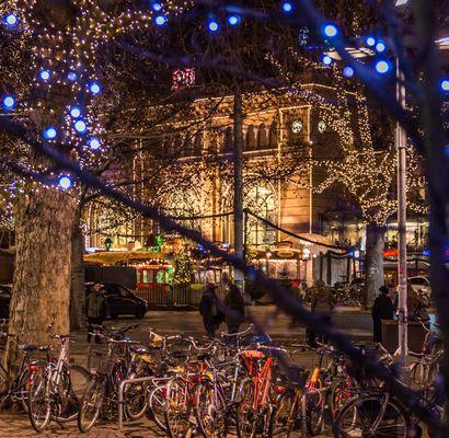 mit dem Fahrrad zum Weihnachtsmarkt - Hannover
