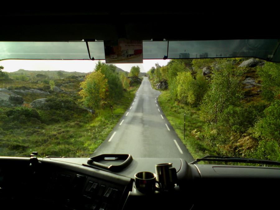 Mit dem LKW durch Norwegen.