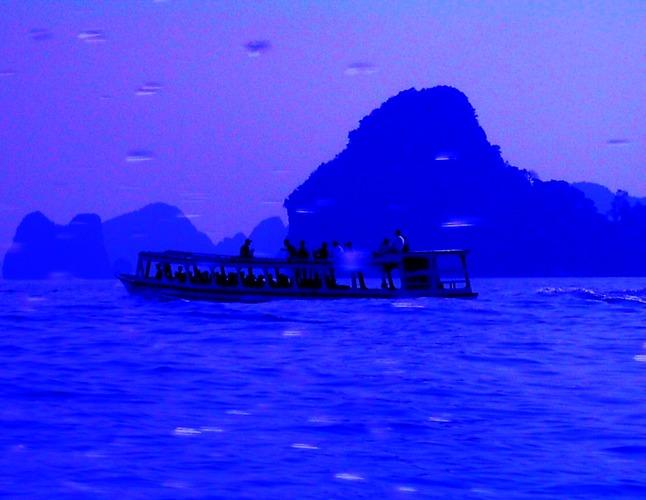... mit dem Longboat unterwegs ...