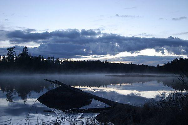 Mit dem Nebel kommt die Kälte